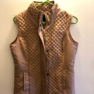Tan Puffy Vest from Macy's